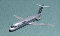 Screenshot of Aerostar Airlines Douglas DC-9-14 in flight.