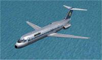 Screenshot of Aerostar Airlines Douglas DC-9-32 in flight.