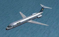 Screenshot of Aerostar Airlines Douglas DC-9-50 in flight.