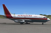 Screenshot of Aerosucre Boeing 737-200F on the ground.
