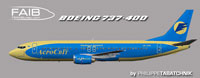 Profile view of Aerosvit Boeing 737-400.