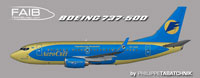 Profile view of Aerosvit Boeing 737-500.