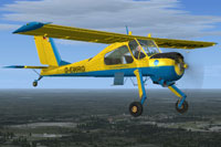 Screenshot of Aeroteam Klix PZL 104 Wilga 35 D-EWRO in flight.