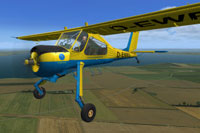 Screenshot of Aeroteam Klix PZL104 Wilga in flight.