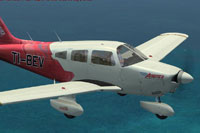 Screenshot of Piper Archer II TI-BEV in flight.