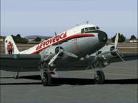 Screenshot of Aerovenca Douglas DC-3 on the ground.