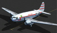 Screenshot of Aerovias Brasil Curtiss C-46A on the ground.