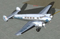 Screenshot of Aerovias Centrales Lockheed Electra on the ground.