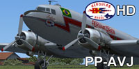 Screenshot of Aerovias Douglas C-47 idle on the ground.