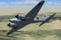 Screenshot of Afghan Avro Anson C18 in flight.