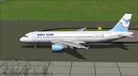 Screenshot of Aigle Azur Airbus A320-200 on runway.