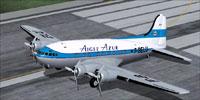 Screenshot of Aigle Azur Boeing 307 Stratoliner on runway.