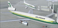 Screenshot of Air Afrique Airbus A300 at the gate.