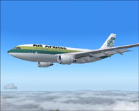 Screenshot of Air Afrique Airbus A310-200 in flight.