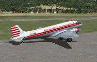 Screenshot of Air Algerie Douglas DC-3 on the ground.