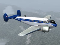 Screenshot of Air America Beechcraft D18S in flight.