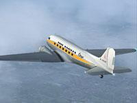 Screenshot of Air Anglia Douglas DC-3 in the air.