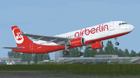 Screenshot of Air Berlin Airbus A320-212 taking off.