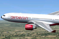 Screenshot of Air Berlin Airbus A330-200 in flight.