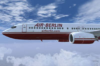 Screenshot of Air Berlin Boeing 737-800 in flight.