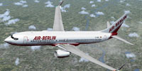 Screenshot of Air Berlin Boeing 737-800WL in flight.