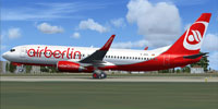 Screenshot of Air Berlin Boeing 737-800WL on runway.