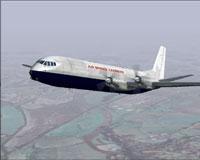 Screenshot of Air Bridge Carriers Vanguard in flight.