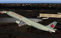 Screenshot of Air Canada Airbus A321 in flight.