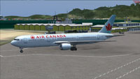 Screenshot of Air Canada Boeing 767-300ER on the ground.