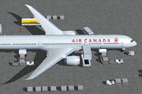 Screenshot of Air Canada Boeing 787-10 with ground services.