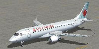 Screenshot of Air Canada Express Embraer 175 on the ground.