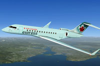 Screenshot of Air Canada Express XRS in flight.