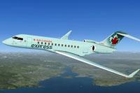 Screenshot of Air Canada Express XRS in flight.