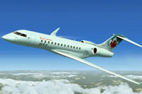 Screenshot of Air Canada Jetz Bombardier XRS in flight.