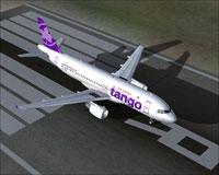 Screenshot of Air Canada Tango Airbus A320-211 on runway.