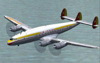 Screenshot of Air Ceylon L-749A Constellation in flight.