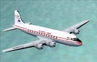 Screenshot of Douglas DC4 'Air Charter London' in flight.