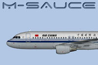 Side profile of Air China Airbus A320.