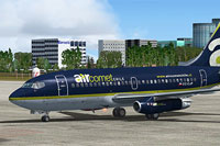Screenshot of Air Comet Boeing 737-200Adv on the ground.