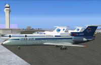 Screenshot of Air Company Itek-Air TU-154B2 on the ground.