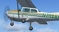 Screenshot of Air Dog Cessna 172 N7029X in the air.