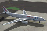 Screenshot of Air Europa Airbus A330-243 taxiing to runway.