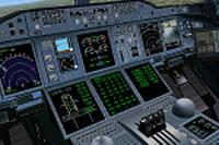 Screenshot of Air France Airbus A380 cockpit.