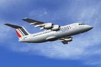 Screenshot of Air France BAe 146-200 in flight.