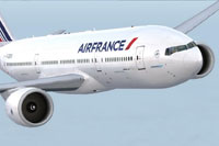 Screenshot of Air France Boeing 777-200ER in flight.