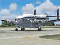 Screenshot of Air France Breguet 763 on runway.