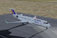Screenshot of Air France CRJ-700 on runway.