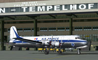 Screenshot of Air France Douglas DC-4 on the ground.