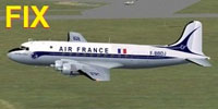 Screenshot of Air France Douglas DC-4 in flight.