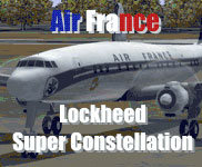 Screenshot of Air France Super Constellation on the ground.